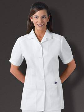 Cherokee 2880 White Button Front Medical Tunic
