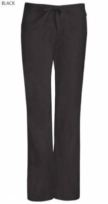Cherokee Code Happy 46002A Female Petite Mid Rise Drawstring Trouser - Certainty