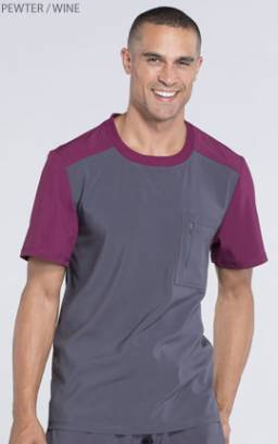 Cherokee Infinity CK630A Men's Colourblock Crew Neck Top - Certainty