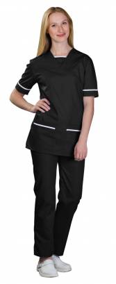 Unisex 534TU V-Neck Scrub Top with Trim END OF LINE