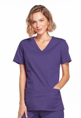 Cherokee Core Stretch Mock Wrap Top 4728