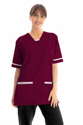 V Neck Lightweight scrub top with trim 534LW
