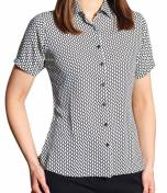 Ava Short Sleeve Print Blouse