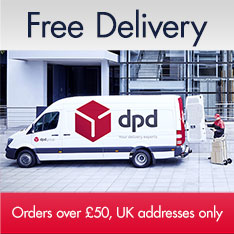 Free Delivery on orders over £50 to UK addresses