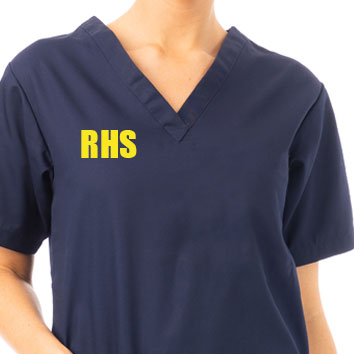 Embroidery on uniforms, chest, right hand side